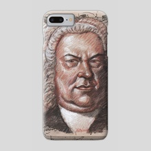 bach poster - Phone Case by mamut  rojo