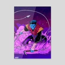 Blue Ninja Oni - Acrylic by Lucas Pereira