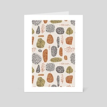 Tree Stamps - Art Card by 83 Oranges