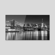Silver City - Acrylic by Katherine Gendreau