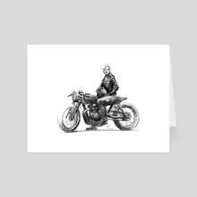Moto Girl - Art Card by Rich Lee