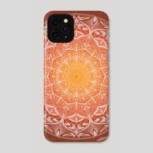 Orange Mandala - Phone Case by Violet Garden