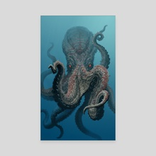 Giant Octopus - Canvas by Lars Grant-West