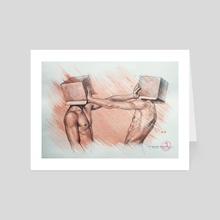 Drawing- Quarantine - Art Card by Hongtao Huang
