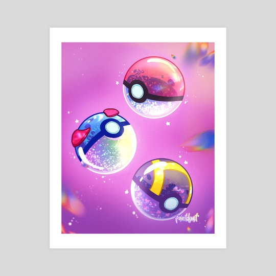 Aesthetic Pokeballs by Aly Jones