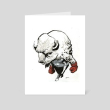 Boxing Buffalo - Art Card by Cool Characters