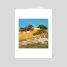 California Hill  - Art Card by Allison Gloe