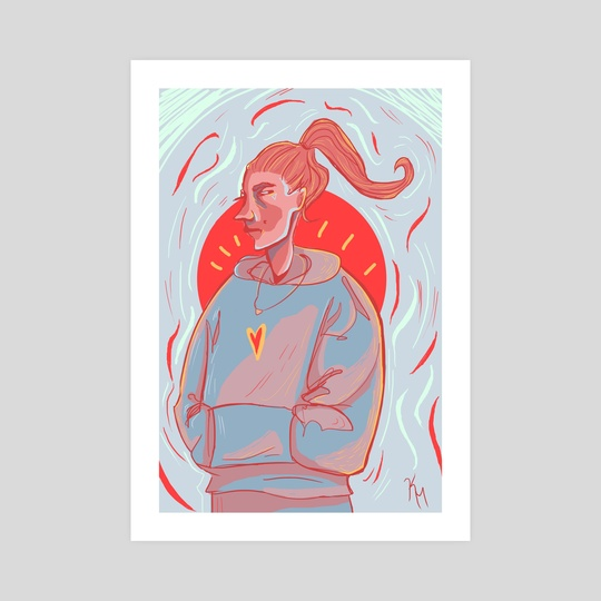 grump girl by Katie Moore