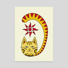 Cat and Sun. Art picture - Canvas by Dmytro Rybin
