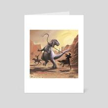 Gwangi - Art Card by Jon Davies