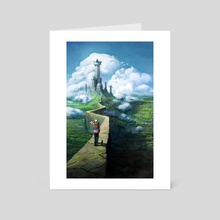 Fish in the Clouds - Art Card by Jorge Jacinto