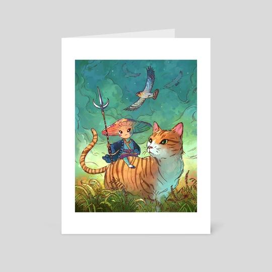 Traveling Mushroom, Trusted Cat by John Ramsey