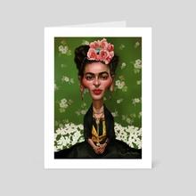 Frida Khalo - Art Card by Alexander Novoseltsev