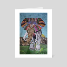 The Intercontinental Elephant - Art Card by Andres Sc