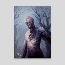 2-2 Black Zombie - Acrylic by Alison Johnstun