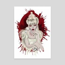 White Queen - Canvas by Louise Gasparian