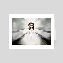 I feel like a ghost. - Art Card by Rouble Rust