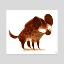 Spotted Hyena - Canvas by Melissa  van der Paardt