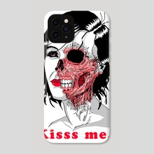The Kissing Skull - Phone Case by Anthony Rocha