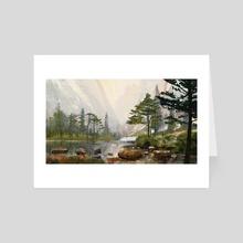 light lake - Art Card by Jason Scheier