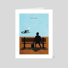 Forrest Gump - Art Card by Deniz Akerman
