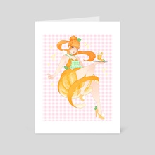 Orange Girl - Art Card by Luna Moon