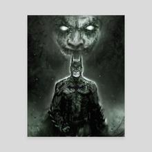 Dark Knight - Canvas by Raja Akhtar