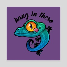 Hang In There Colorful Gecko - Canvas by John Schwegel