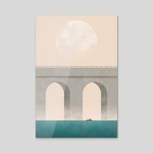 Here I Dreamt I Was An Architect - Acrylic by Alan Barrett