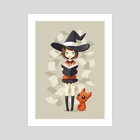 Little Witch 2 - Art Print by Indré Bankauskaité
