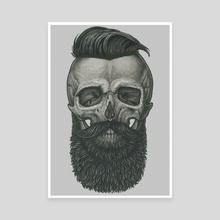 Bearded Skull - Canvas by Vadim Zhulanov