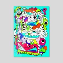 Poltergeist - Acrylic by Alberto Carlos  Montana  © ( ͡° ʖ̯ ͡°)