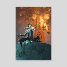 Golden Gate Steampunk - Canvas by Christopher Bretz