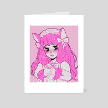 Pink Gothic Nya - Art Card by Rose Bun