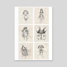 Fairies Set 1 - Acrylic by Tom Bonson
