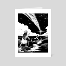 Howl's Moving Castle - Catching a Shooting Star - Art Card by Aud Koch