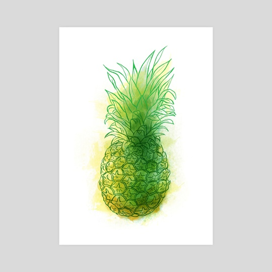 Fresh pineapple by Carl Conway