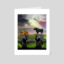 Christian Mythology for Kids - Cain and Abel - Art Card by Chris Zakrzewski