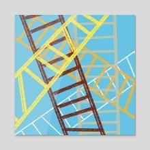 ladders - Acrylic by Orin Dee