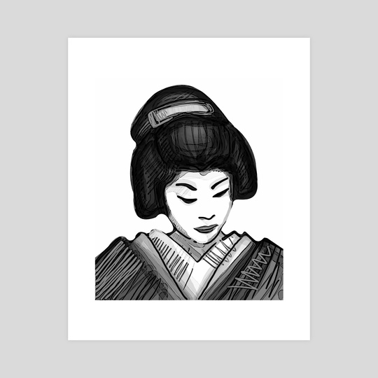 Geisha illustration by Bernardo Ramonfaur