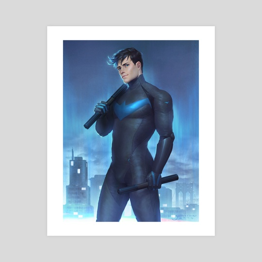 Nightwing (unmasked) by Guilherme Prieto