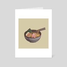 Ramen Onsen - Art Card by Miss Chibi
