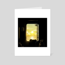 Train To Somewhere  - Art Card by Gummy Illustration