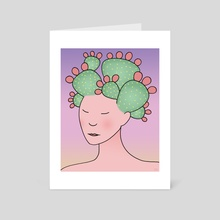 Prickly Pear Cactus Spirit - Art Card by Eliza Stein