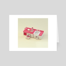 Pink Counter - Art Card by Paul McMahon
