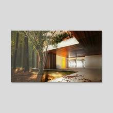 Forest House - Acrylic by Jesus Fernandez