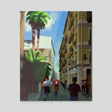 streets of Catalonia - Acrylic by artkonina