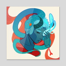 Migraine - Acrylic by Ashenwave