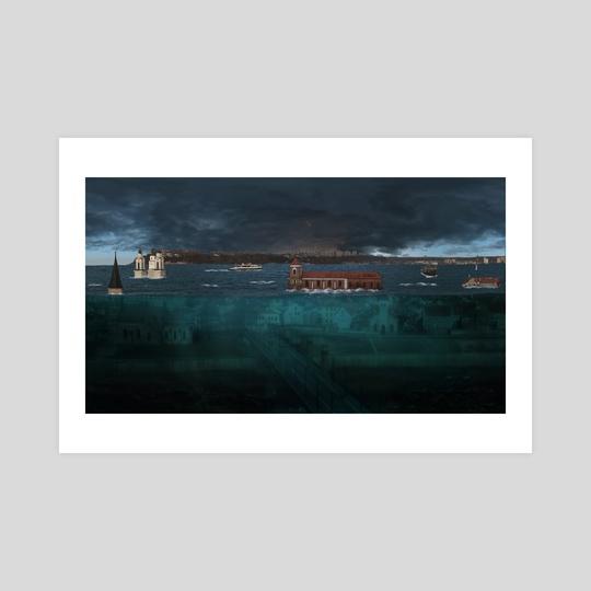 City under water by Geraldas Galinauskas