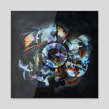 Midnight City - Acrylic by Counsel Langley